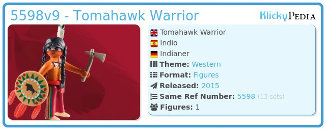 Playmobil 5598v9 - Tomahawk Warrior
