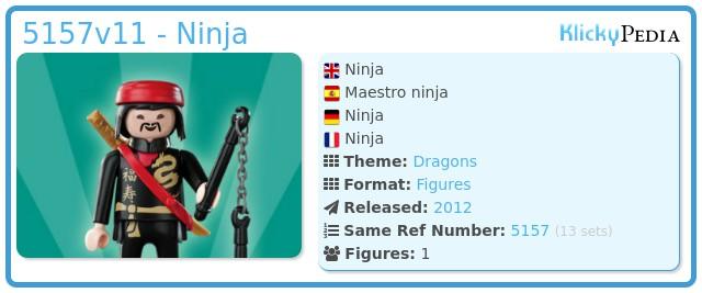 Playmobil 5157v11 - Ninja