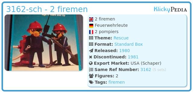 Playmobil 3162-sch - 2 firemen