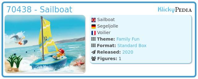 Playmobil 70438 - Sailboat