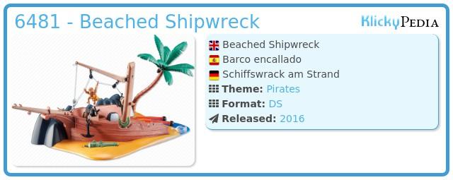 Playmobil 6481 - Beached Shipwreck