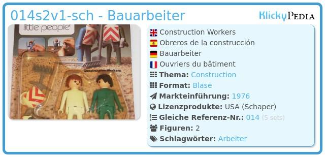 Playmobil 014s2v1-sch - Bauarbeiter