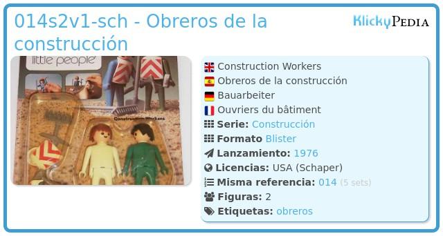 Playmobil 014s2v1-sch - Obreros de la construcción
