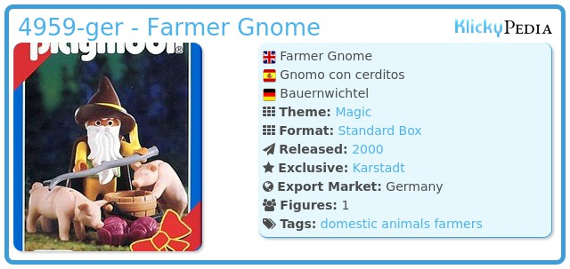 Playmobil 4959-ger - Farmer Gnome