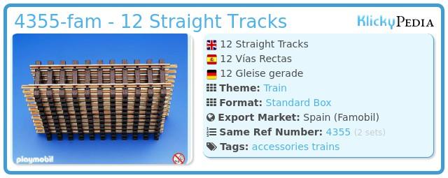 Playmobil 4355-fam - 12 Straight Tracks