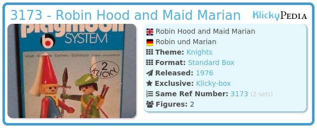 Playmobil 3173 - Robin Hood and Maid Marian