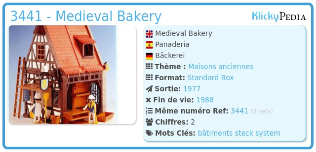 Playmobil 3441 - Medieval Bakery