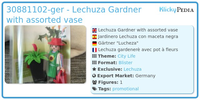 Playmobil 30881102-ger - Lechuza Gardner with assorted vase