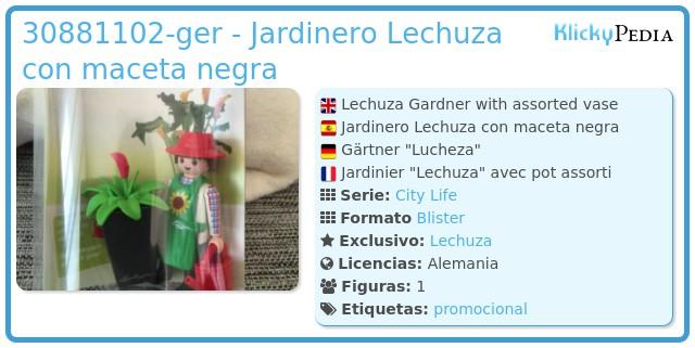 Playmobil 30881102-ger - Jardinero Lechuza con maceta negra