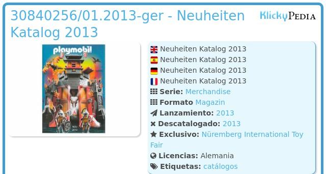 Playmobil 30840256/01.2013-ger - Neuheiten Katalog 2013