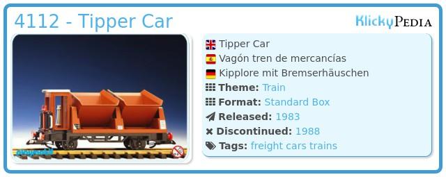 Playmobil 4112 - Tipper Car