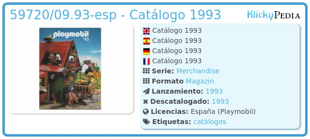 Playmobil 59720/09.93-esp - Catálogo 1993
