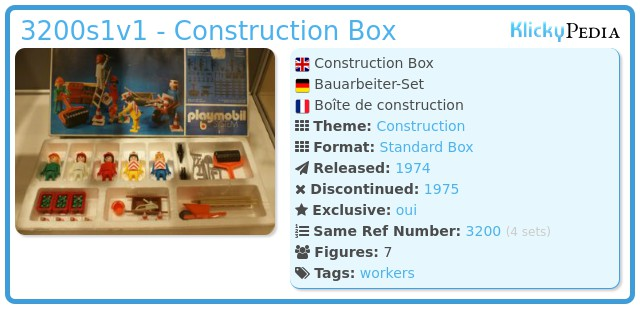 Playmobil 3200s1 - Construction Site