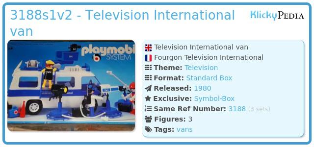 Playmobil 3188s1v2 - Television International van