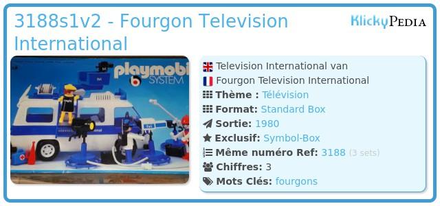 Playmobil 3188s1v2 - Fourgon Television International