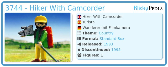 Playmobil 3744 - Hiker With Camcorder