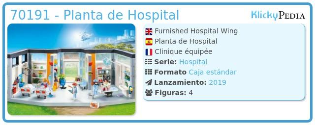 Playmobil 70191 - Hospital floor