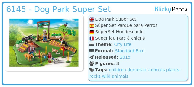 Playmobil 6145 - Superset Dog Training