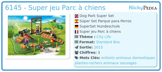 Playmobil 6145 - Superset Training des chiens