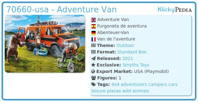 Playmobil 70660-usa - Adventure Van