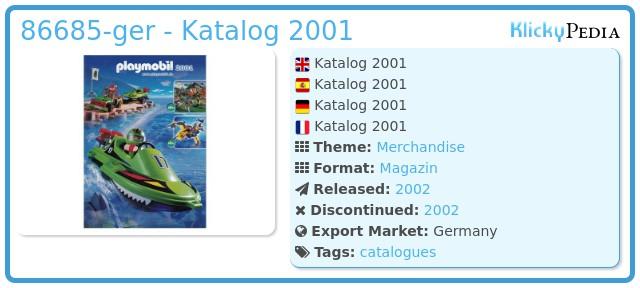 Playmobil 86685-ger - Katalog 2001