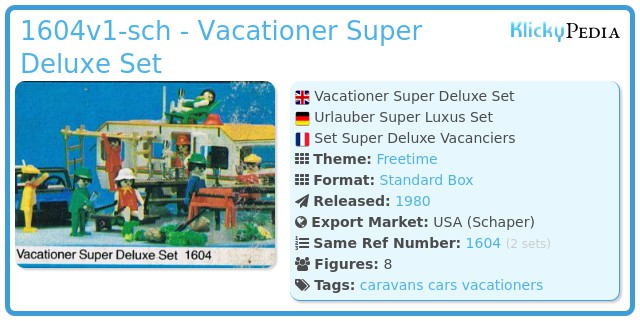 Playmobil 1604v1-sch - Vacationer Super Deluxe Set