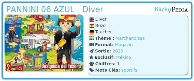 Playmobil PANNINI 06 AZUL - Diver