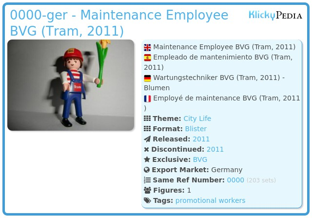 Playmobil 0000-ger - Maintenance Employee BVG (Tram, 2011)