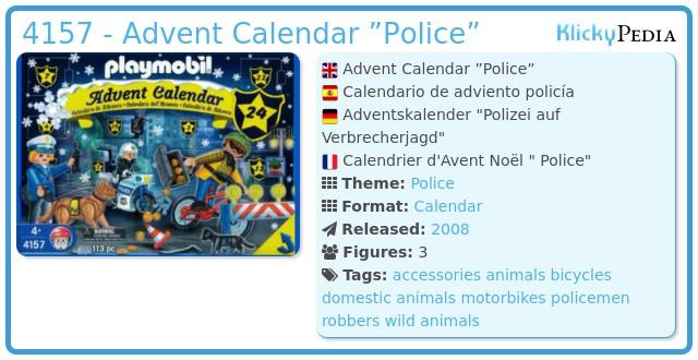 "Playmobil 4157 - Advent Calendar ""Police"""