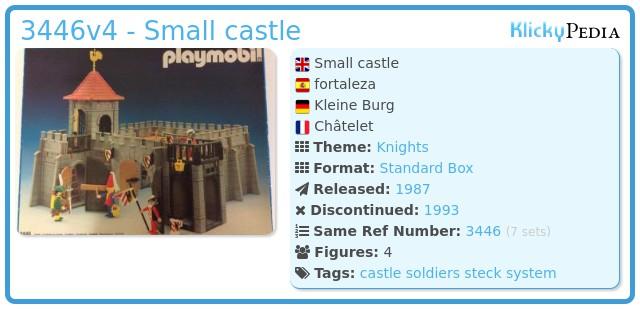 Playmobil 3446v4 - Small castle