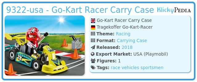 Playmobil 9322-usa - Go-Kart Racer Carry Case