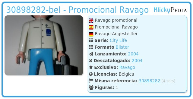 Playmobil 30898282-bel - Promocional Ravago
