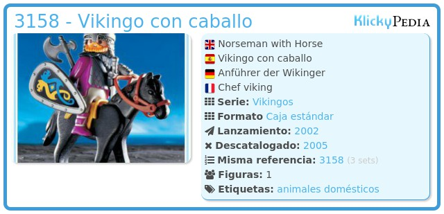 Playmobil 3158 - Vikingo con caballo