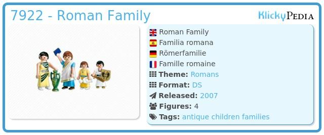 Playmobil 7922 - Roman Family