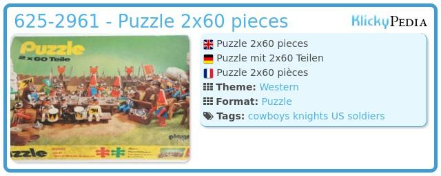 Playmobil 625-2961 - Puzzle 2x60 Teile