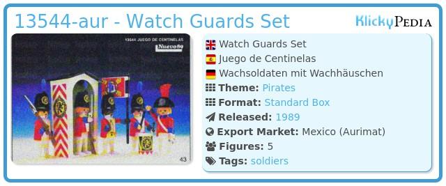 Playmobil 13544-aur - Watch Guards Set