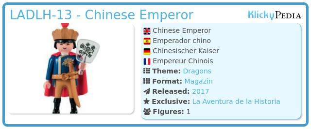 Playmobil LADLH-13 - Chinese Emperor