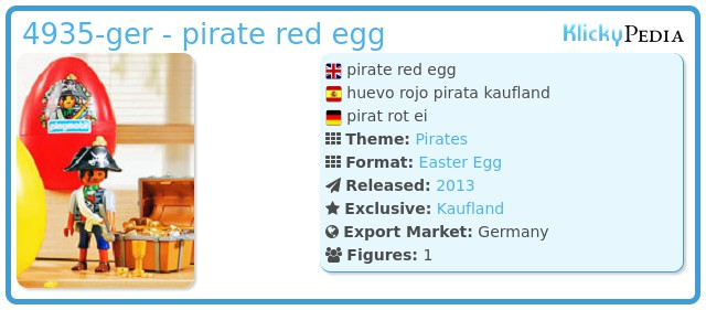 Playmobil 4935-ger - pirate red egg