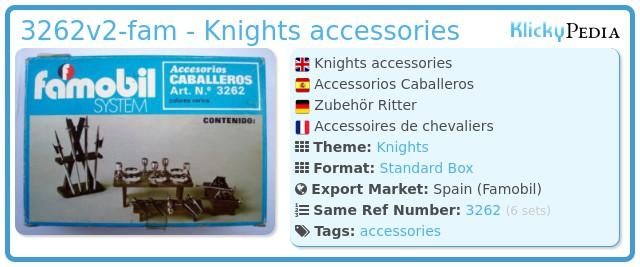 Playmobil 3262v2-fam - Knights accessories