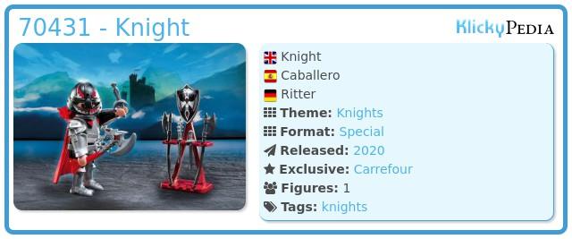 Playmobil 70431 - Knight