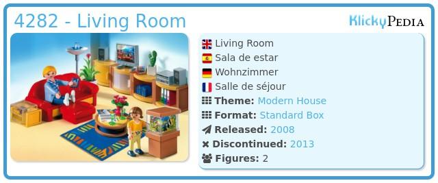 playmobil set: 4282 - living room - klickypedia, Wohnzimmer dekoo