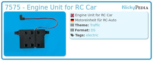 Playmobil 7575 - Engine Unit for RC Car
