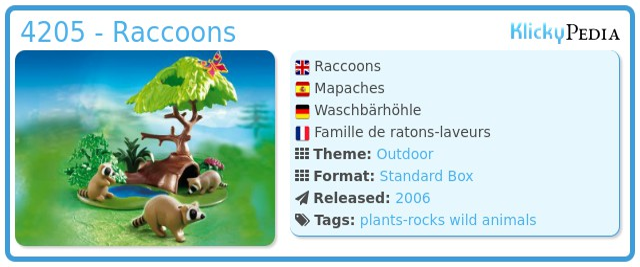 Playmobil 4205 - Raccoons