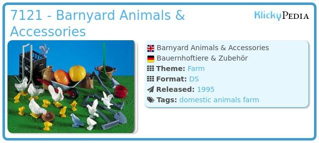 Playmobil 7121 - Barnyard Animals & Accessories