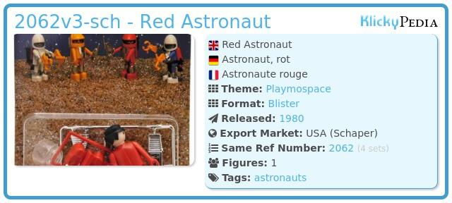 Playmobil 2062v3-sch - Red Astronaut