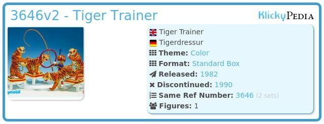 Playmobil 3646v2 - Tiger Trainer