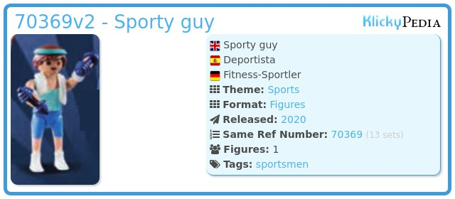 Playmobil 70369v2 - Sporty guy