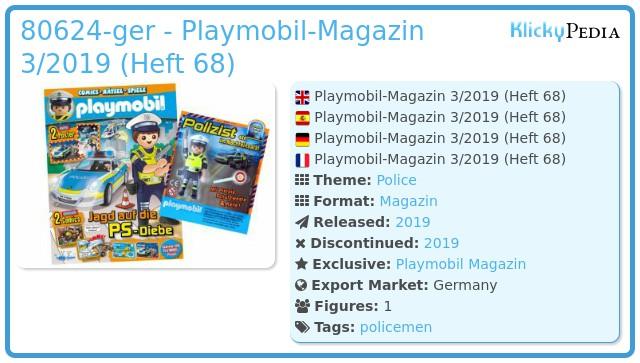 Playmobil 80624-ger - PLAYMOBIL-Magazin 3/2019 (Heft 69)