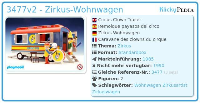 Playmobil 3477v2 - Zirkus-Wohnwagen