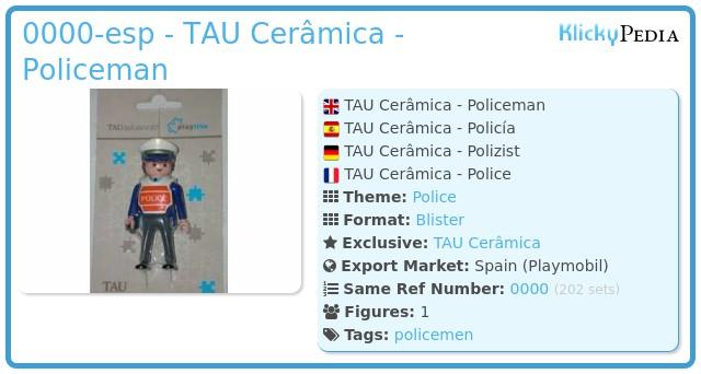 Playmobil 0000-esp - TAU Cerâmica - Policeman